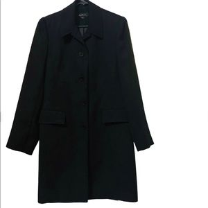 Katies Vintage Style Black Trench Coat   Size :8